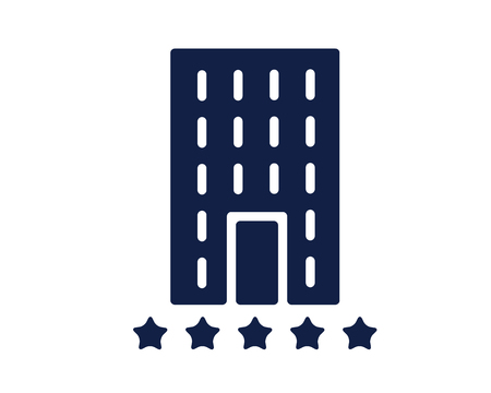hotel glyph icon , designed for web and app