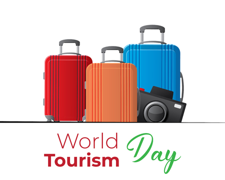 world tourism day cool cute pack app design web banner