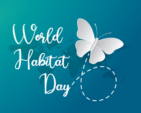 world habitat day illustration world habitat day illustration vector world habitat day paper art illustration vector
