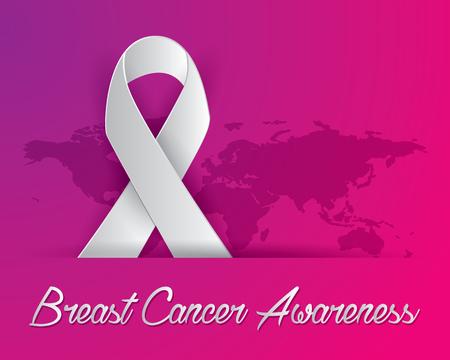 breast cancer awareness illustration vector, breast cancer paper art illustration vector,ribbon illustration vector