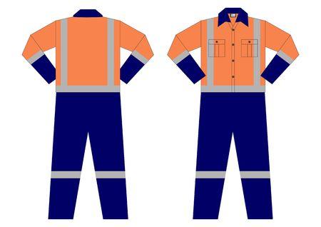 Mining Industry Uniform Illusztráció