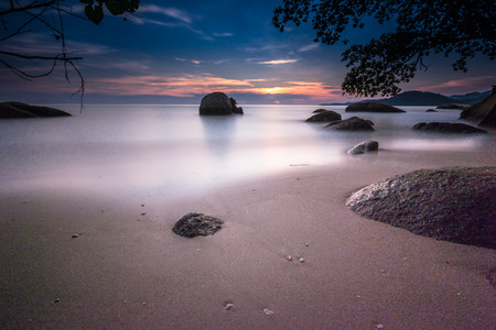 The sunset at beach