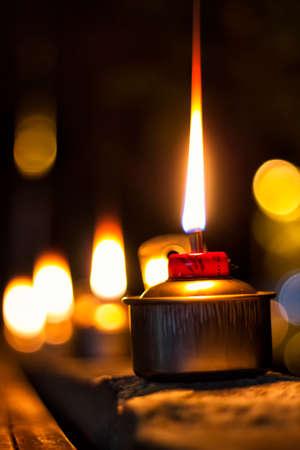 oil lamp: oil lamp during eid festival Stock Photo