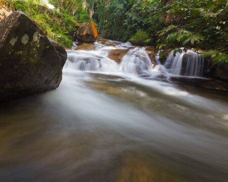 water flow: The beautiful water flow of Lata Kinjang waterfall