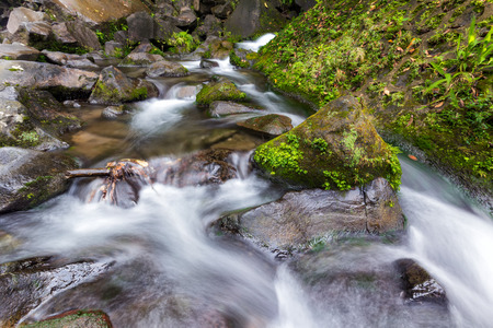 water scape: The beautiful view of water stream of Lembah Anai waterfall.