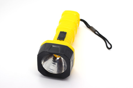 torch light: Yellow torch light on the white background