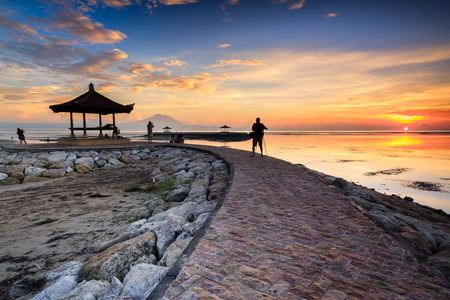 sanur: Karang beach Sanur, Bali, Indonesia in the morning