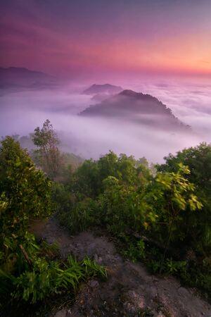 Iyerweng the mountain sea mist in Betong, Yala South Thailand