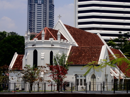 The St. Marys Cathedral which was built in 1895 is one of the historic building around the Dataran Merdekas area in Kuala Lumpur, Malaysia.