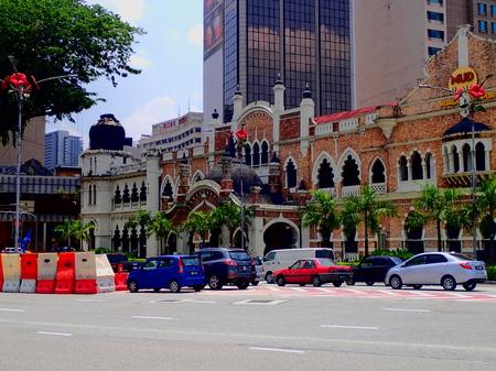 The iconic Panggung Bandaraya DBKL or Panggung Bandaraya City Theatre, which was built in 1896 with its preserve Moorish facade facing the busy street of Jalan Raja  in Kuala Lumpur, Malaysia. Editorial