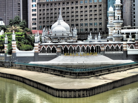 Masjid Jamek or Jamek Mosque at the confluence of Klang and Gombak River was built in 1909 is one of the oldest mosque in Kuala Lumpur.