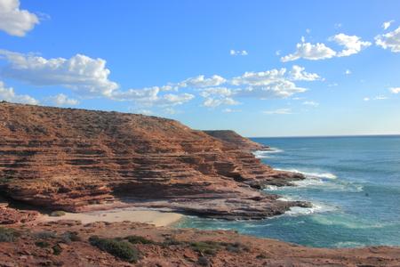 Pot Alley, a coastal area with precarious cliff in Kalbarri National Park, Australia.