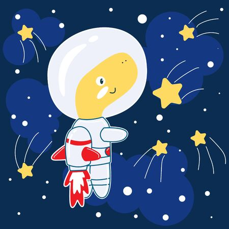 Cute Dino astronaut