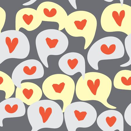 Love comment Seamless pattern