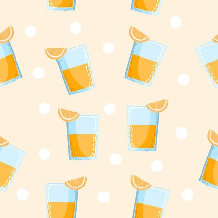 Orange Juice Seamless Pattern Иллюстрация