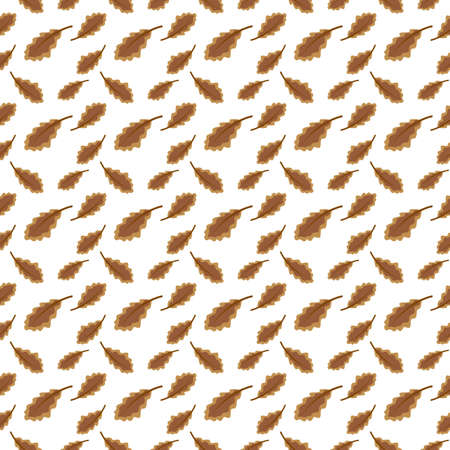 Brown leaf pattern with autumn theme