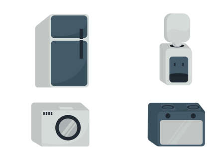 collection of electronic equipment illustrations with a simple and elegant design