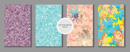Liquid Marble Texture Design, Colorful Abstract Composition. Mixture of acrylic paints. Fluid art. Modern Artwork - Vector Standard-Bild - 121420833