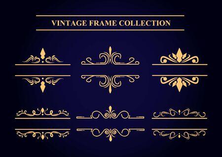 Vintage Frame Collection Illustration