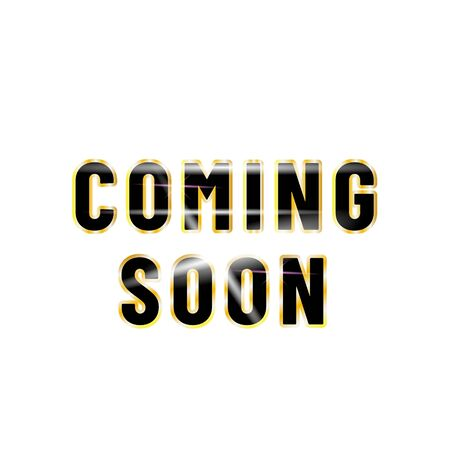 Coming soon poster design isolated white background
