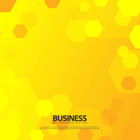 Square abstract hexagonal business design