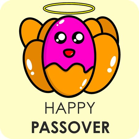 Happy passover cute template vector Illustration