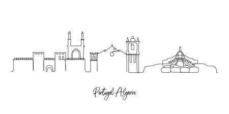 Europe's cities landmark skyline illustration