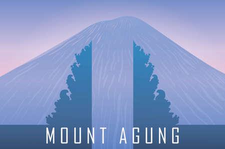 mount agung view landscape vector. vector banner. illustration. EPS10