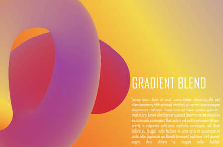 Gradient Blend. Gradient Background. Awesome Colorful Background. Editable Vector. EPS10 矢量图像