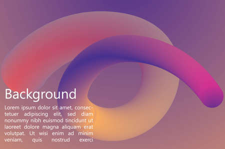 Fluid Gradient  Background. Awesome Colorful Background. Editable Vector. EPS10
