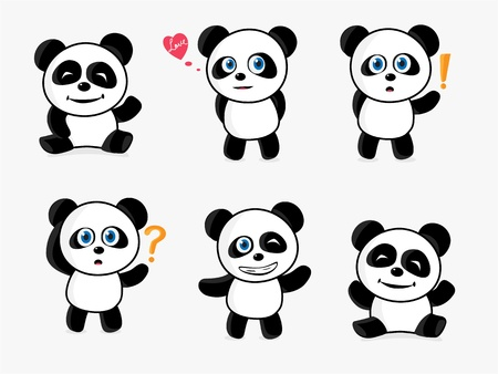 Loving Panda Stock Vector - 12207881