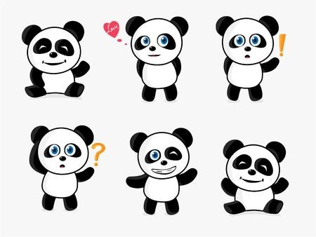 Loving Panda Stock Vector - 12207881