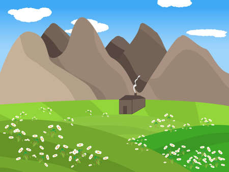 Valley Illustration Stock Vector - 12484627