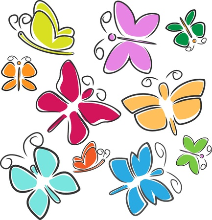cartoon butterfly: Abstract Butterfly Illustration