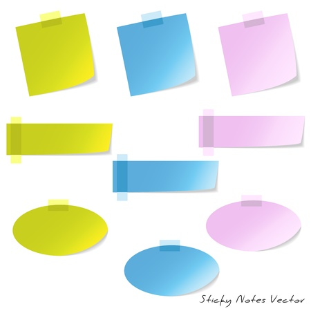 Sticky Notes Stock Vector - 12484855