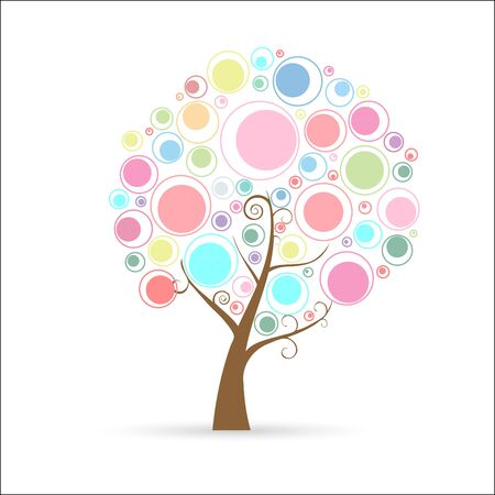 Circle Tree Stock Vector - 12484879