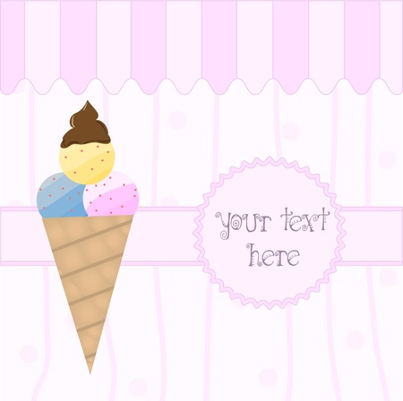 ice lolly: Ice cream Card Illustration