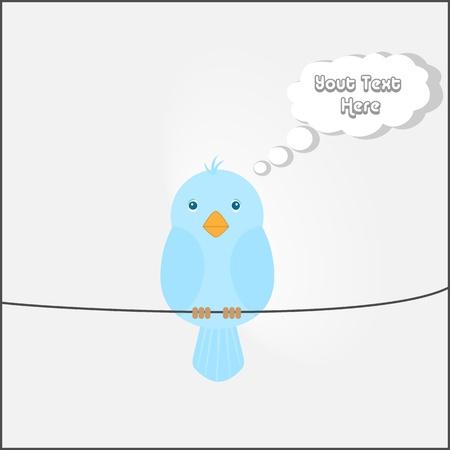 lady bird: Cute Bird Thinking