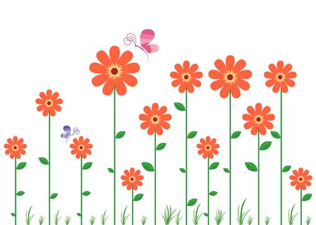 decal: Red Flowers Decal
