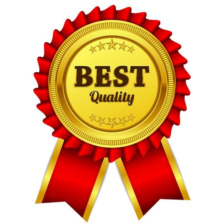 Beste Qualität Red Seal, Etikett Icon Vektorgrafik