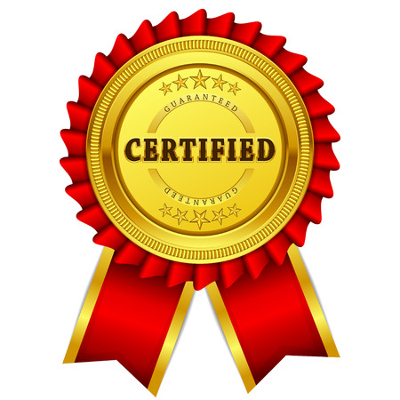 red seal: Certidied Guaranteed Red Seal, Label Icon