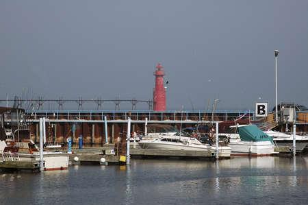 Lighthouse marina dock. photo
