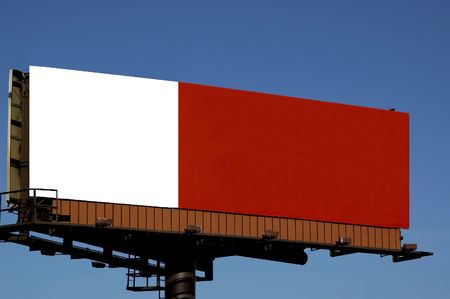 proclamation: Advertising billboard with a blue sky background