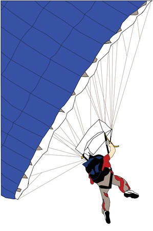 parachuting: Parachuting Illustration