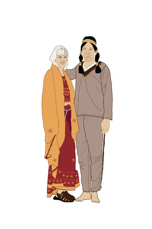 Male and Female indian dress.