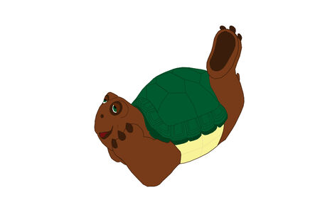 Turtle laying down thinking.