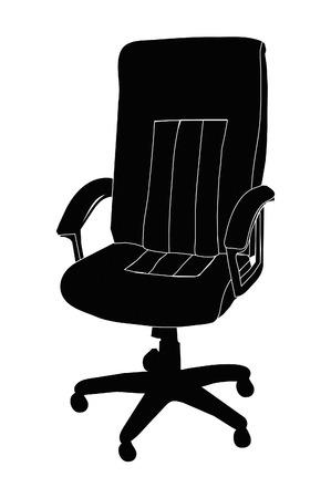 Office executive desk chair. Illustration