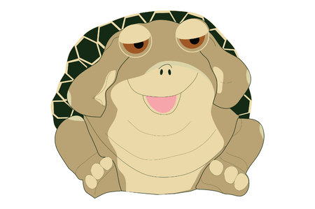 Smiling fat turtle.