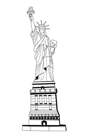 is new: Drawing of the Liberty Statue
