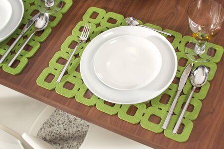 Table served for romantic dinner